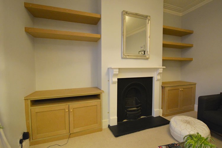 Bespoke alcove cupboards amp shelving bristol hand build alchove units
